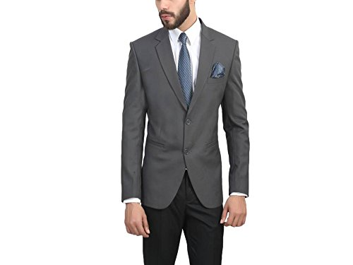 ManQ Grey Slim Fit Formal/Party Men's Blazer  available at amazon for Rs.1750