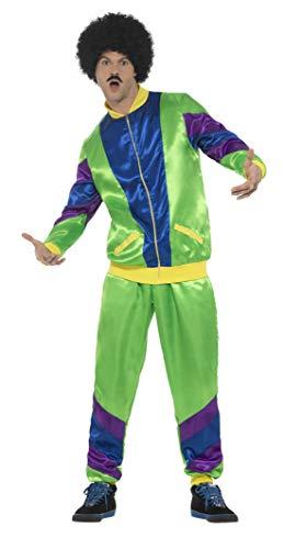 Kostüm Jahre Cooler 90er - Smiffys Herren 80er Jahre Fashion Shell Kostüm, Jacke und Hose, Größe: XL, 43129