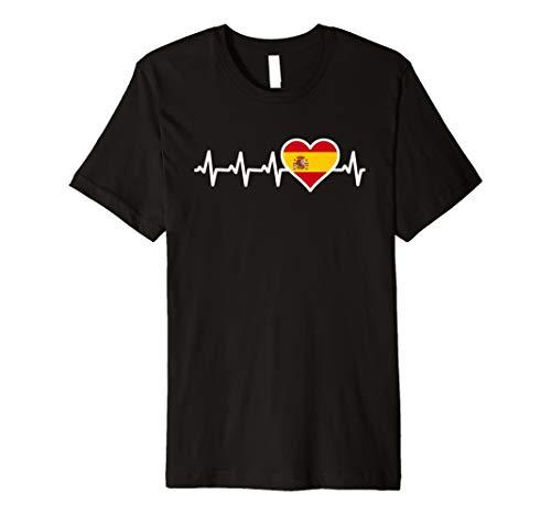 Spanien Herzschlag T-Shirt Spanierin Spanier Geschenk Shirt