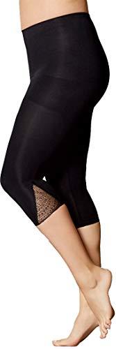Golden Lutz Damen Capri-Leggings, figurformend ++ Plus Size ++ (schwarz mit dreieckiger Spitze, Gr. L 44/46) | ESMARA Lingerie (Plus Size Leggings Lingerie)