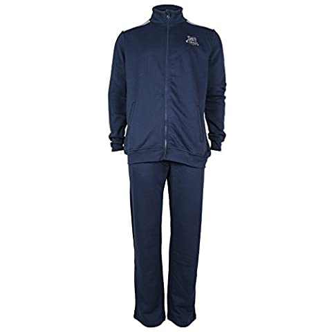 Mens Full Zip with contrasted Shoulder Panels Tracksuit Navy