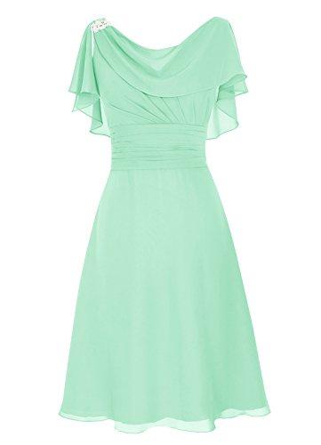 Dresstells Damen Abendkleider Homecoming Kleider Abiballkleider Mintgrün Größe 38