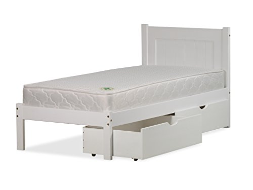 3FT SINGLE CLIFTON BED FRAME ONLY IN SOLID WHITE PINE