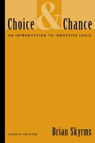 Choice and Chance: An Introduction to Inductive Logic