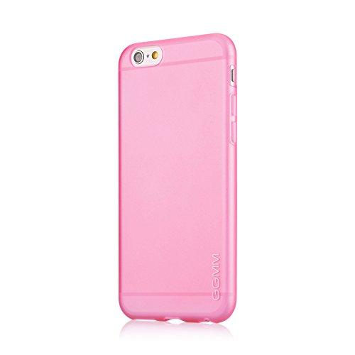 GGMM Pure-A6 iPh61137 transparente Schutzhülle mit Displayschutzfolie für Apple iPhone 6 kristall Red