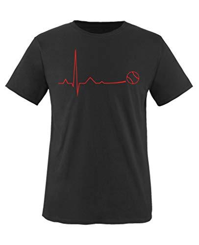 Baseball-mom-mädchen T-shirt (Comedy Shirts - Pulsschlag Baseball - Mädchen T-Shirt - Schwarz/Rot Gr. 152-164)