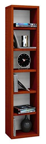 VCM Regal DVD CD Rack Möbel Aufbewahrung Holzregal Standregal Möbel Anbauprogramm Kirschbaum 92 x 21 x 20 cm