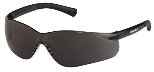BEARKAT ES PRO SCHWARZ Sonnenbrille Herren Damen UV400 100% UV A/B & 89% Blaulicht Umlaufende Stoßfest Anti-Fog Sportbrille für Autofahren Motorrad Laufen Radfahren Tennis und Extremesport