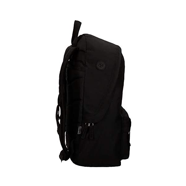 Pepe Jeans 6682351 Harlow Mochila Escolar, 42 cm, 22.79 litros, Negro