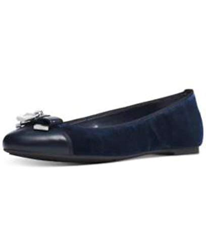 Michael Kors MK Women's Designer Alice Moccasin Ballet Velvet Flats Admiral (6.5) - Michael Kors Ballerinas Schuhe