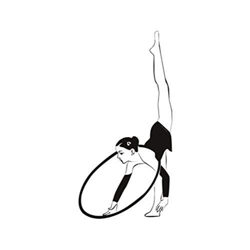 Turnerin und Hoop Gymnastik Tanzen Wandaufkleber Gym Sport Dekor Art Decals 28 * 57cm
