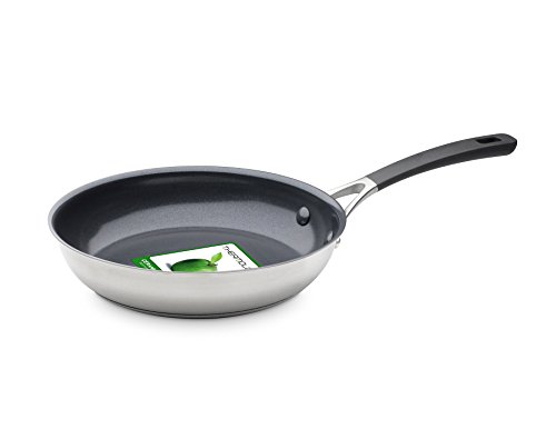 GreenPan Minneapolis Ceramic Non-Stick Frying Pan, Stainless Steel, 20 cm
