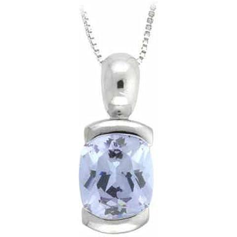 Ciondolo in argento Sterling e zirconia cubica,