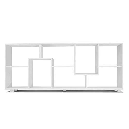 IDMarket - Étagère à double position bois blanc L 161 cm