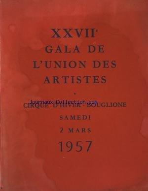 GALA DE L'UNION DES ARTISTES du 02/03/1957