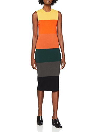 Warehouse Damen Colourblock Striped Kleid, Multicolour (Multi), 38 - Multi-striped Kleid