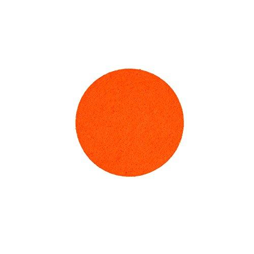 Filzuntersetzer Tassenuntersetzer Glasuntersetzer Tischschoner Filz Untersetzer rund ca. 4mm dick ca. Ø 10 cm Durchmesser (8 Stück ca. Ø 10 cm, 16 Orange)