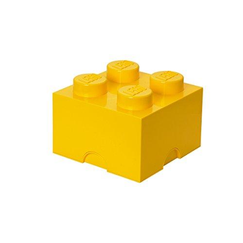 Mattoncino-contenitore Lego a 4 Bottoncini, Contenitore Impilabile, 5,7 Litri, Giallo