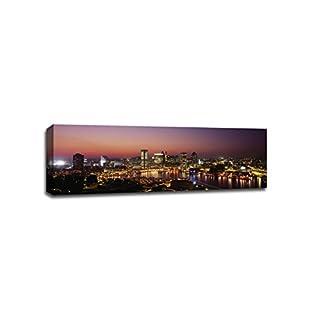 ArtsyCanvas Baltimore Cityscape (36 x 12 Canvas), 36