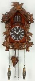 """Horloge """"coucou"""" avec Petit Oiseau au Sommet"""