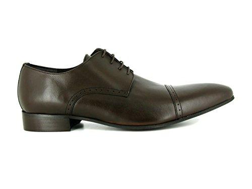J.BRADFORD Derby Cuir Noir JB-MIVER - Couleur - Noir, Taille Chaussures - 45