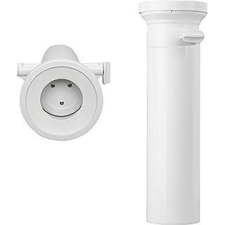 WC-Anschlussstutzen gerade DN 100, verriegelbarer abu rat blocker, Baulänge 400