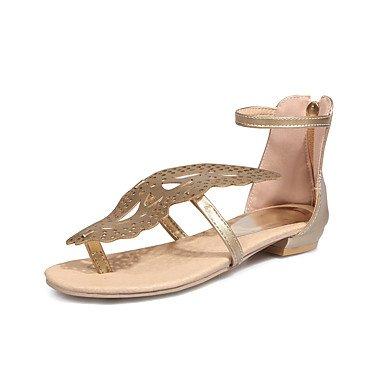 CatThief Damen-Sandalen-Outddor Kleid-Kunstleder-Flacher Absatz-Komfort Leuchtende Sohlen-Gold Weiß Schwarz Silber Rosa blushing pink