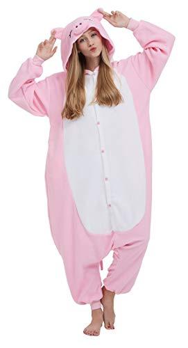 SAMGU Einhorn Adult Pyjama Cosplay Tier Onesie Body Nachtwäsche Kleid Overall Animal Sleepwear Erwachsene Pig ()
