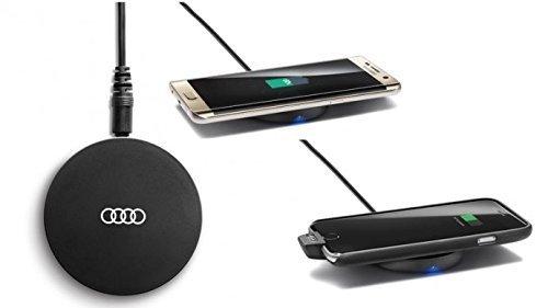 Original Audi induktive Ladestation für Mobiltelefone kabellos Wireless Charging Pad Smartphone Qi-Standard 8W0051191 (Standard-höhe Box Mobile)