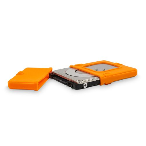 FANTEC Silikonschutzhülle (Protection Sleeve für 6,35 cm (2,5 Zoll) Festplatten und SSDs, absorbiert Gerätevibrationen, dämpft Stöße und Erschütterungen) orange
