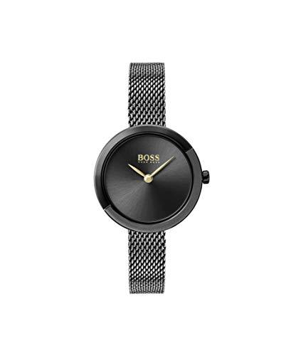 Hugo BOSS Damen Analog Quarz Uhr mit Edelstahl Armband 1502499 - Uhren Damen Movado