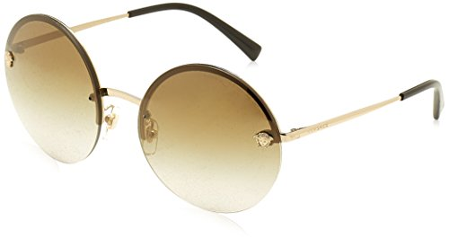 VERSACE Sun - PALE GOLD WITH BROWNGRADMIRRORGOLD LENS