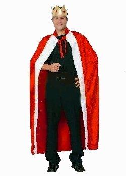 König Mantel mit Krone Robe Kostüm (Krone Kostüm König Und Robe)