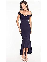5e1d06918 Vestidos de fiesta de noche de las señoras Las mujeres V profundo fuera del  hombro Alto