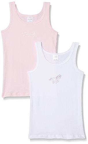 Schiesser Mädchen Unterhemd, 2er Pack, Mehrfarbig (Sortiert 1 901), 92