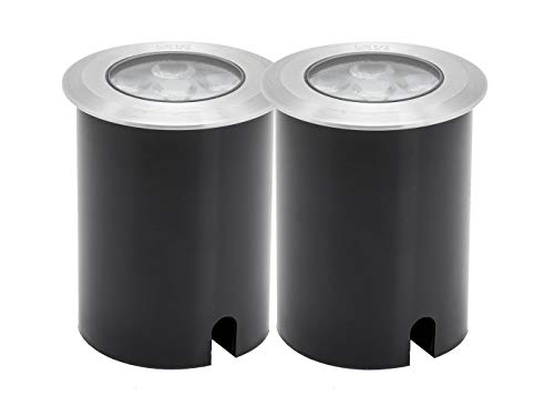 Juego de 2High Power LED Foco de suelo, diámetro de 11cm, 480lm,...