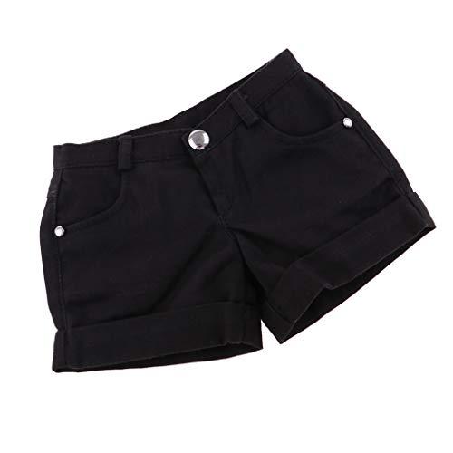 Baoblaze Mädchen Puppe Kleidung Jeans Shorts Kurze Hosen Für 1/3 Weibliche Puppen Dress up - Schwarz