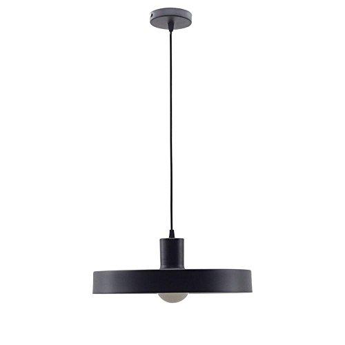 Vintage Design Suspension industrielle minimaliste rétro noir hängeleuchter Loft ronde fer Abat-jour suspension E27 Edison Culot de lampe