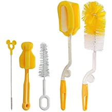 Adore Bottle Nipple and Straw Cleaning Kit Pack of 5, Multi Color