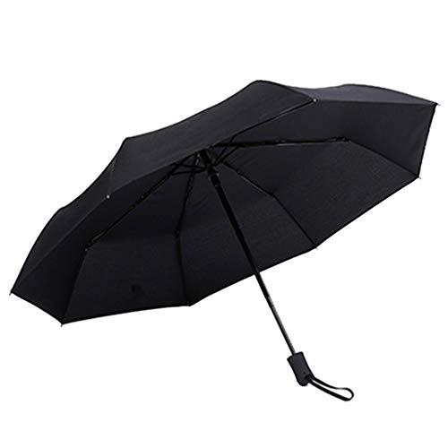 FeiliandaJJ Kompakter Regenschirm Taschenschirm Groß Automatik Windsicher Sturmfest Anti UV Doppelschicht Stockschirm Reiseregenschirm für 2 Personen,Komfortablen rutschfest Gummigriff (Schwarz) -