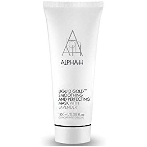 Alfa-H Oro líquido Suavizante y Perfeccionamiento de la máscara (100G) (Paquete de 4)