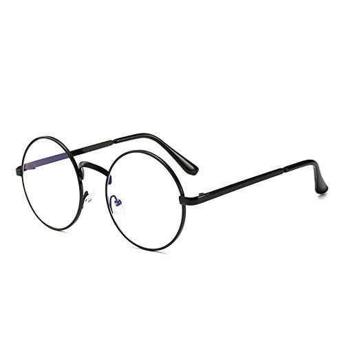 WDSLHH Männer Computer Brillen Uv Strahlenresistent Frau Pc Lesebrillen Retro Metall Runde Brillengestell