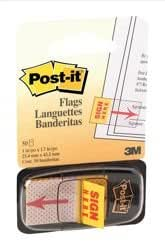 Post-it Sign Here Index Pack of 50 W25mm Ref 680-9