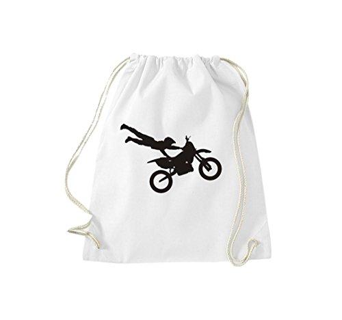 Motocross Enduro Motocross Jumper Gymsack Cult Bag Bianco