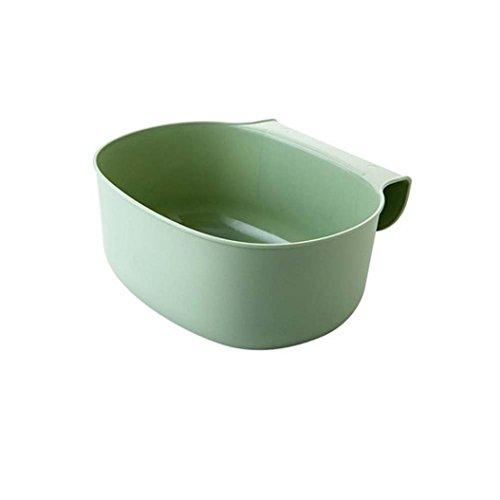 Zum Aufhängen Küche Schrank Tür Trash Rack Speisen Organizer, einfach Hand Waschen Robuste Umweltfreundliche Aufbewahrung Kisten Garbage grün (Kiste Pan)
