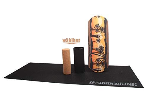BoarderKING Indoorboard Hawaii Skateboard Surfboard Balanceboard - surfen im Wohnzimmer (M)
