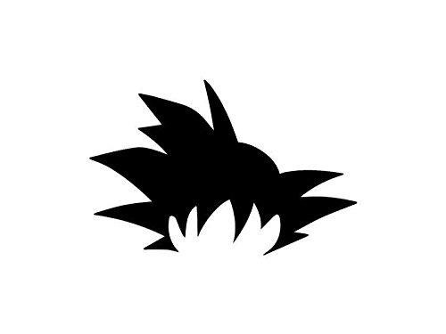 Goku pelo-Dragonball Z inspirado Stencil-12
