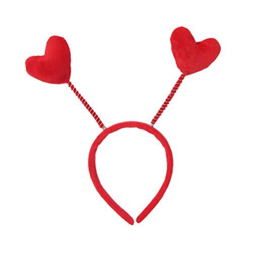 BESTOYARD Rotes Herz Stirnband Boppers Frühling Stirnbänder niedlichen Haarreifen Party Supplies für Geburtstagsfeierfeiern