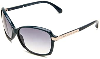 Marc Jacobs MMJ270S01ZK Women's Rectangle Teal Brown Plastic Frame Grey Gradient Lenses Sunglasses