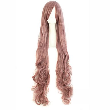 HJL-perruque cosplay gradient de Harajuku couleur colocasia classification volume des cheveux brun 100cm perruque , 34 inch